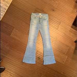 Hudson mid rise flare jeans size 25